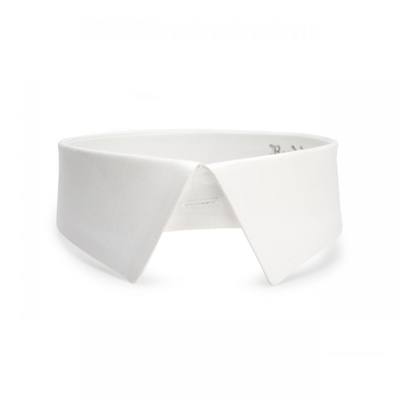 Plain Cotton Stiff Cornhill Day Collar in White