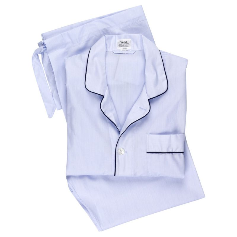 Plain Batiste Pyjamas in Sky Blue
