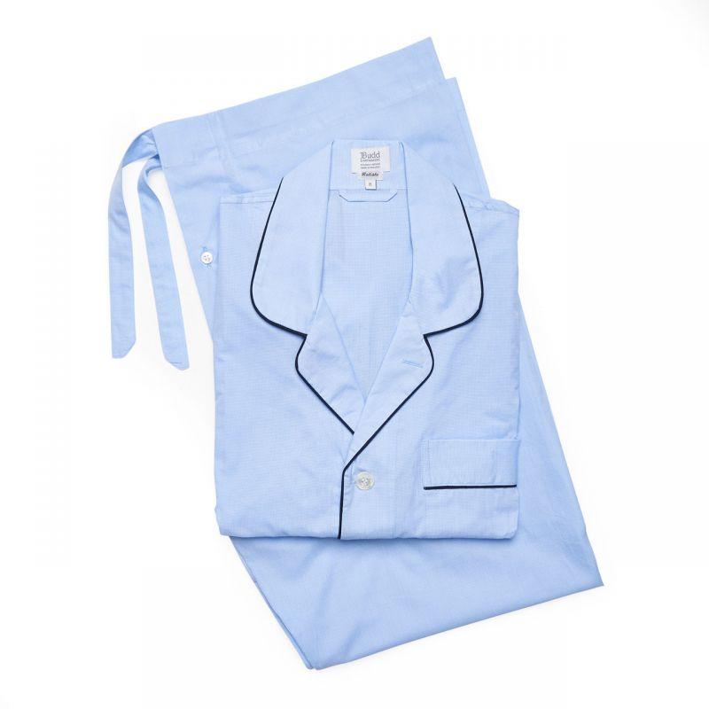 Puppytooth Batiste Pyjamas in Sky Blue