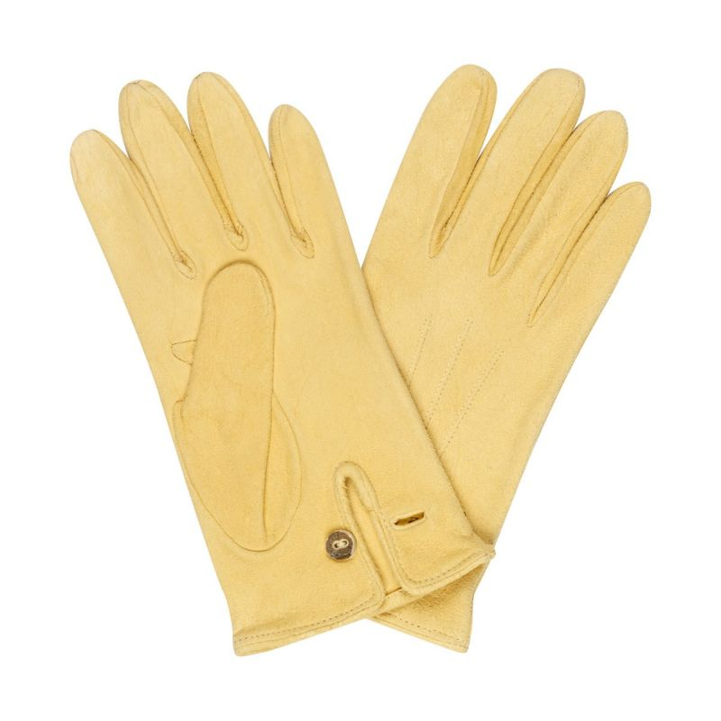 Chamois Leather Gloves in Pale Yellow