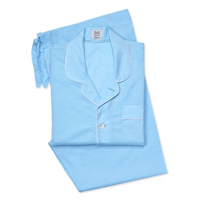 Plain Batiste Pyjamas in Aqua