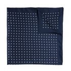 36 Inch Silk Spot Square in Navy and White