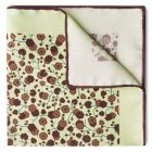 Abstract Flowers Hopsack Silk Pocket Square in Brown