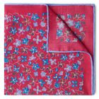 Daisies Wool and Silk Pocket Square in Pink
