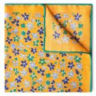 Daisies Wool and Silk Pocket Square in Yellow