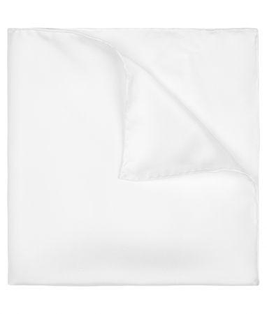 Ivory Silk Pocket Square