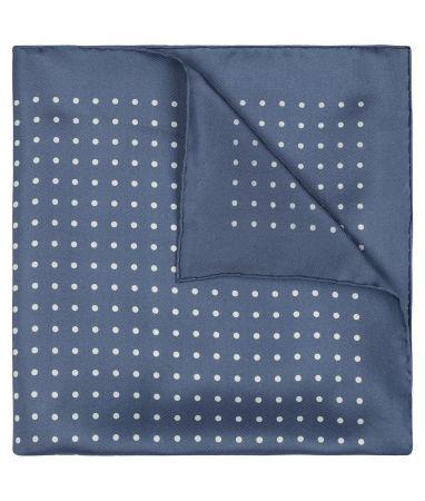 Butcher Blue & White Medium Spot Pocket Square