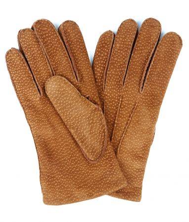 Tan Buffed Hogskin/ Cashmere Lined Gloves