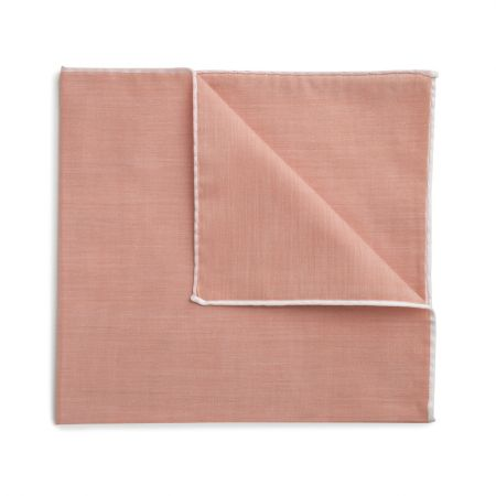 Plain Batiste Cotton Handkerchief in Peach