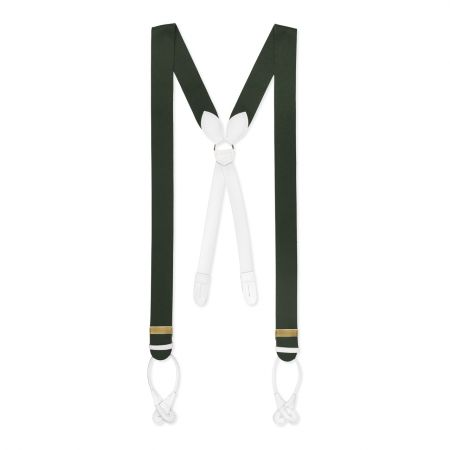 Plain Boxcloth Braces in Green