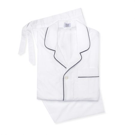 Plain Poplin Pyjamas in White