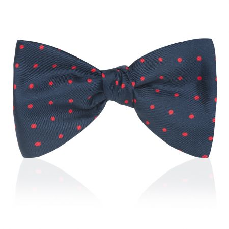 Medium Spot 2.5 inch Thistle Bow Tie in Navy and Red