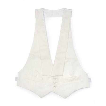 White Faille Waistcoat
