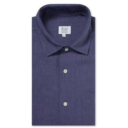 Casual Linen Shirt in Indigo