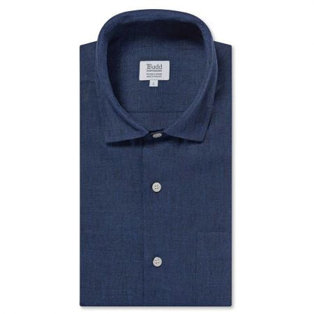 Casual Linen Shirt in Midnight Navy