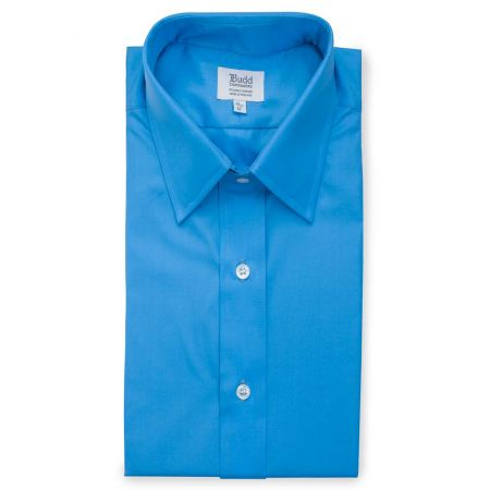Poplin Shirt in Saxe Blue