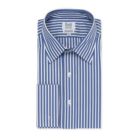Exclusive Budd Stripe Shirt in Edwardian Blue
