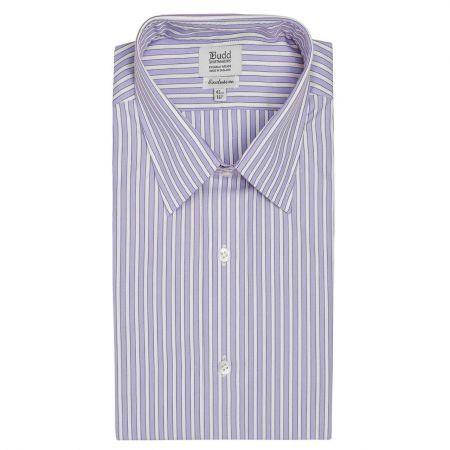 Exclusive Budd Stripe Shirt in Lilac