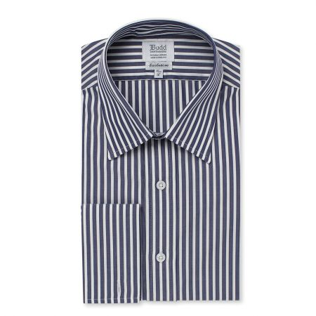 Exclusive Budd Stripe Shirt in Navy