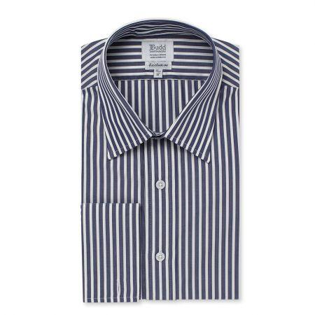 Exclusive Budd Stripe Shirt in Navy