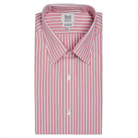 Exclusive Budd Stripe Shirt in Pink