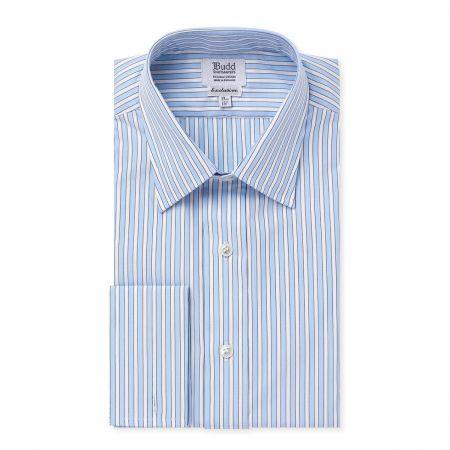 Exclusive Budd Stripe Shirt in Sky