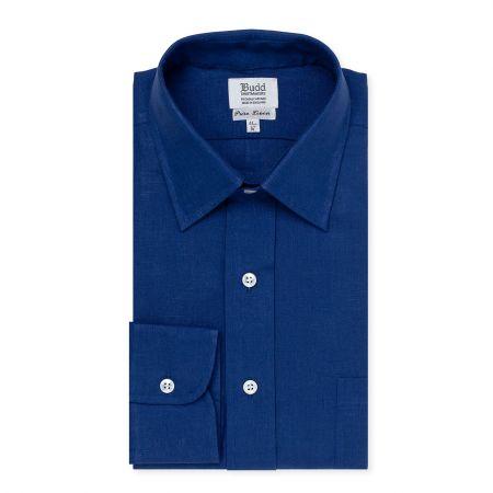 Classic Linen Shirt in Cool Blue