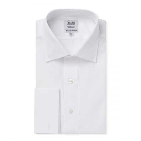 Bank Poplin Shirt in White