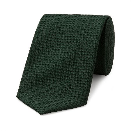 Grenadine Tie in Dark Green