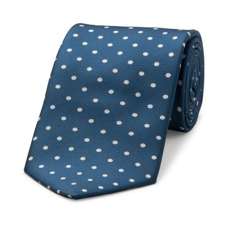 Medium Spot Tie in Blue and White
