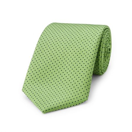 Small Spot Tie in Lime and Navy