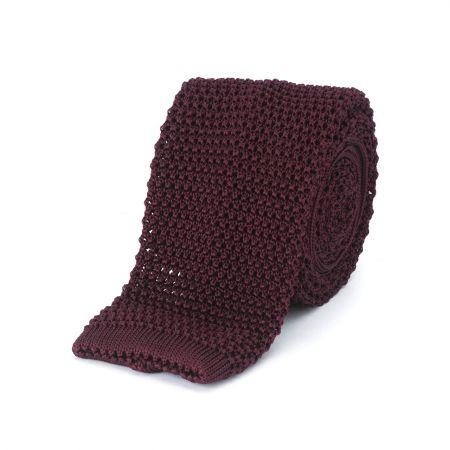 Grenat Knitted Silk Tie