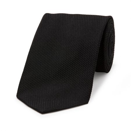 Piccola Grenadine Tie in Black