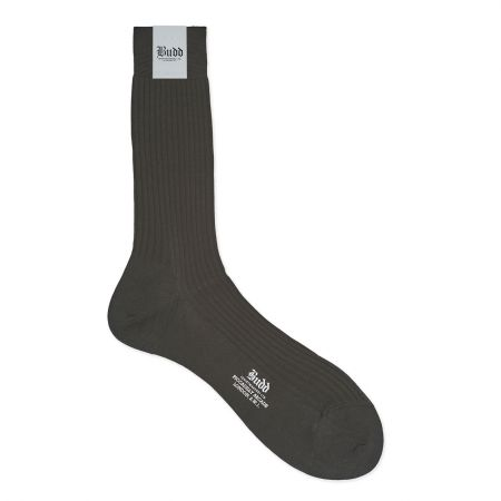 Plain Cotton Short Socks in New Charcoal