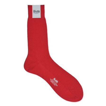 Plain Wool Short Socks in Indies Red