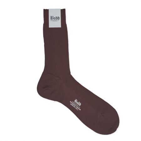 Plain Wool Short Socks in Maroon