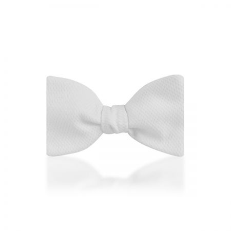 """Plain Marcella 2.5"""" Thistle Sized Bow Tie in White"""