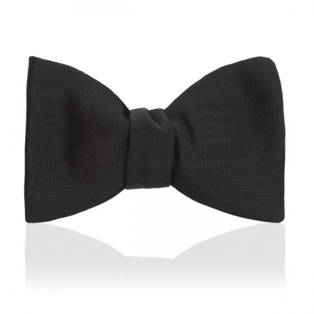 Moire Thistle Bow Tie in Black - Sized