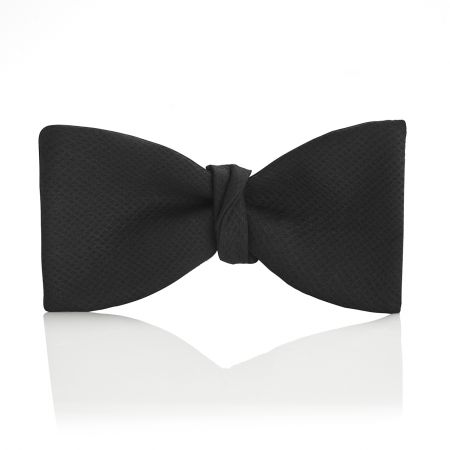Black Marcella Thistle Bow Tie in Black Tied