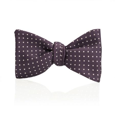 Mini Spot 2.5 Inch Thistle Bow Tie in Purple and White