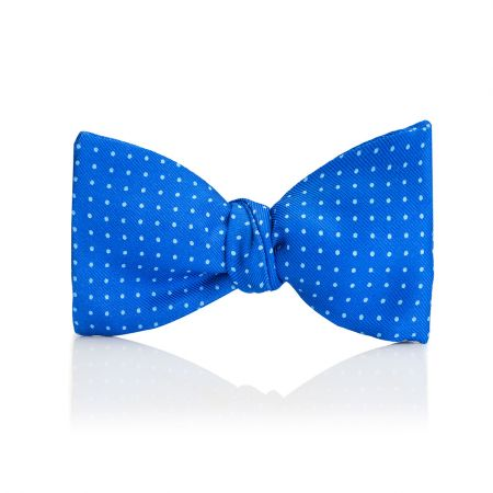 Mini Spot 2.5 Inch Thistle Bow Tie in Royal and Sky