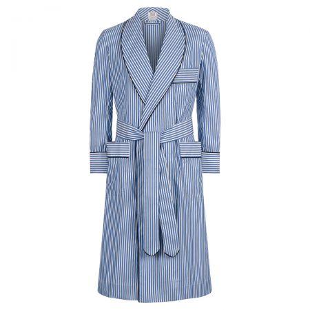Edwardian Blue Dressing Gown