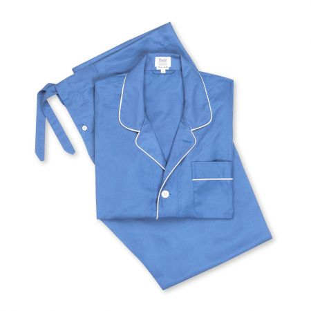 Plain Silk Pyjamas in Blue