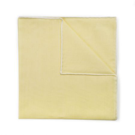 Lemon Batiste Cotton Handkerchief