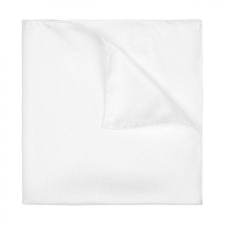 Plain Silk Pocket Square in Ivory