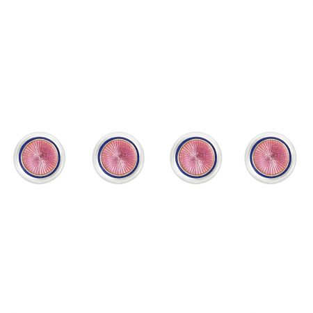 Sunburst Cloisonné Dress Shirt Studs in Pink