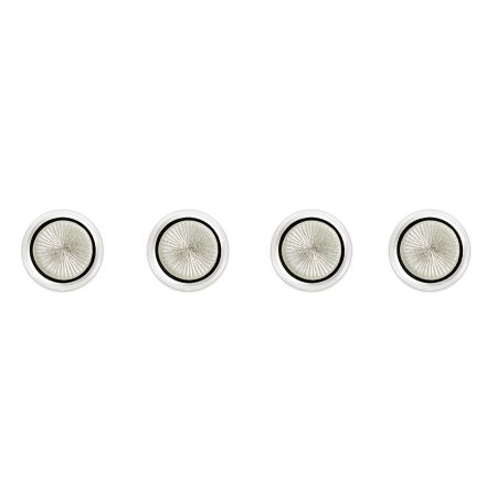 Sunburst Cloisonné Dress Shirt Studs in White