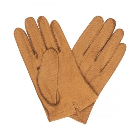 Plain Hogskin Unlined Gloves in Tan