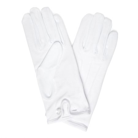 Plain Cotton Gloves in White