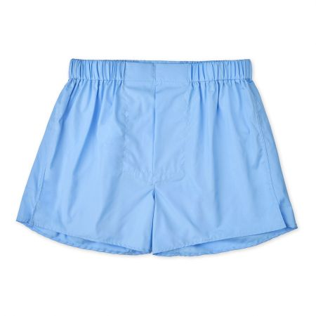 Plain Cotton Chairman Boxer Shorts in Cornflower